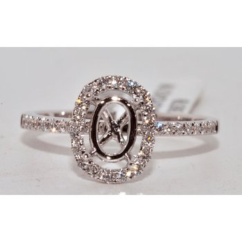 Oval-Shaped Halo Engagement Ring