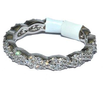 18K WG Elegant Weave Diamond eternity