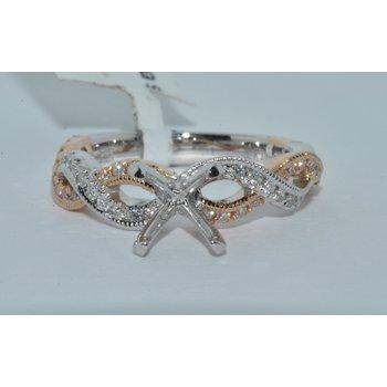 14K TT WG & RG Diamond Ring