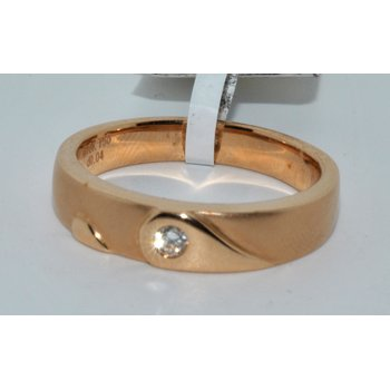 14K Rose Gold Wedding Band Satin Finish
