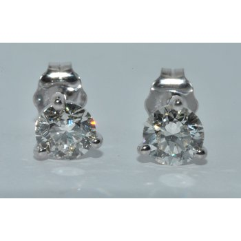14K WG Diamond Stud 0.57ct
