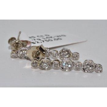 Vintage inspired 14K White Gold Earrings