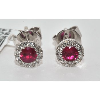 Beautiful Ruby Diamonds Earring