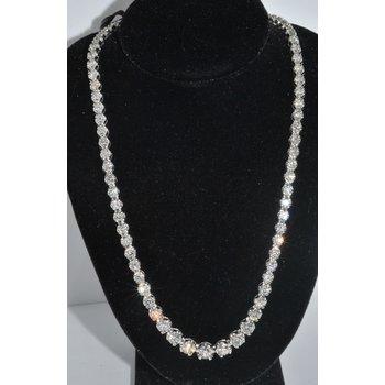 18K WG Diamond Riviera Necklace
