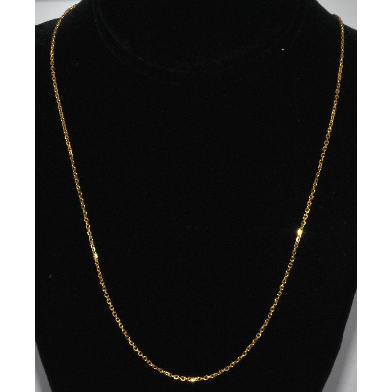 "Windy City Signature Chain 18"" 14kYG"