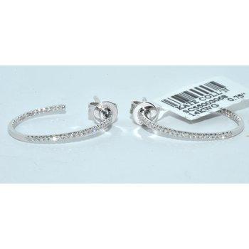 14K WG Diamond Hoop Earring
