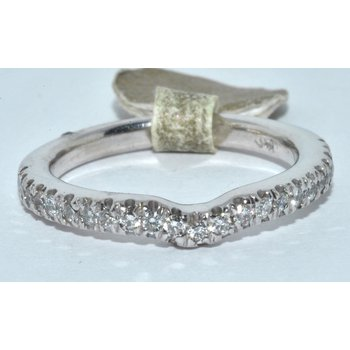 14K-X1 WG Diamond Wedding Band