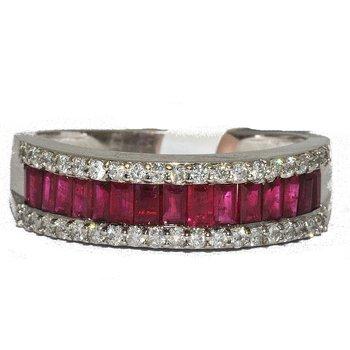18K WG Ruby & Diamond Ring
