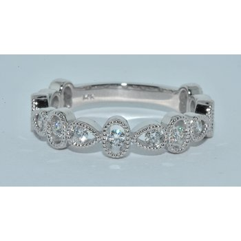 14ktx-1 white gold diamond wed band