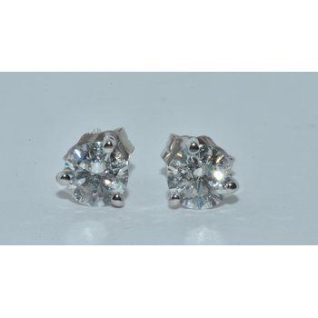 14K WG Diamond Stud G/SI1