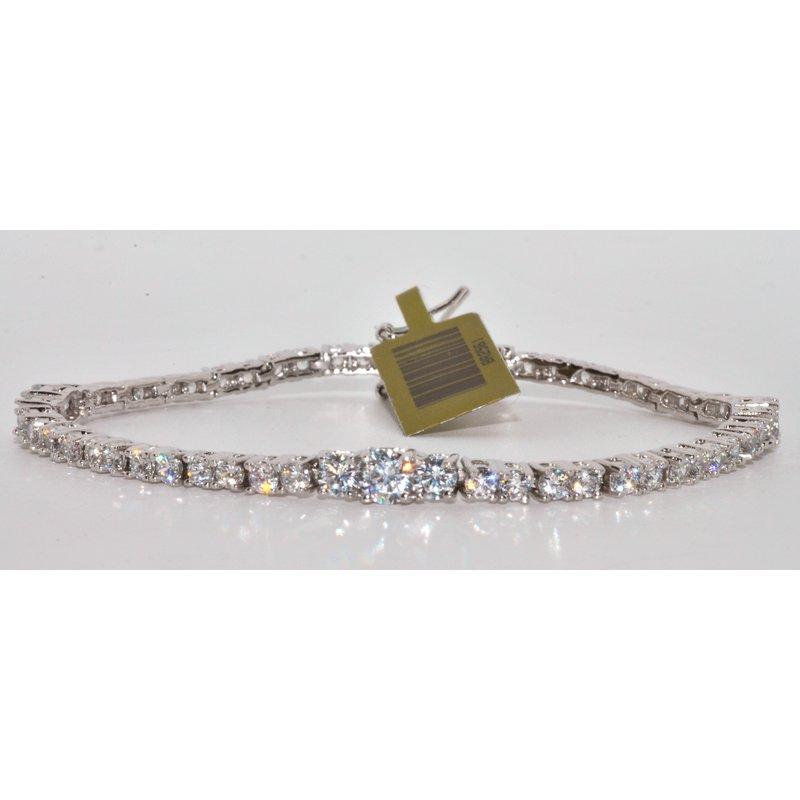 Windy City Signature Silver Bracelet with White CZ's