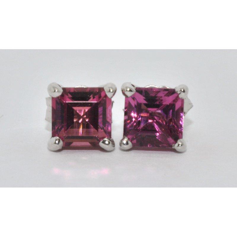 Windy City Signature 14K WG Pink Tourmaline Earrings