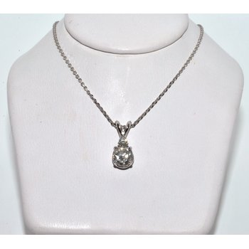 This beautiful 14K White Gold pendant