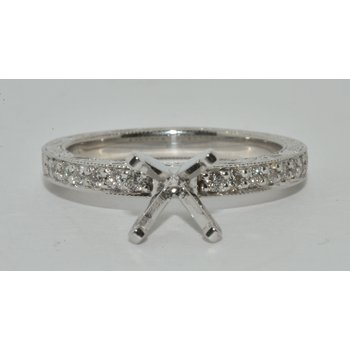 Hand-Engraved Engagement Ring