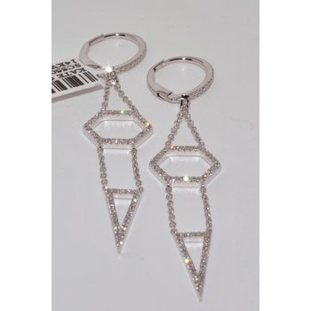 14K WG Diamond Fashion Earrings