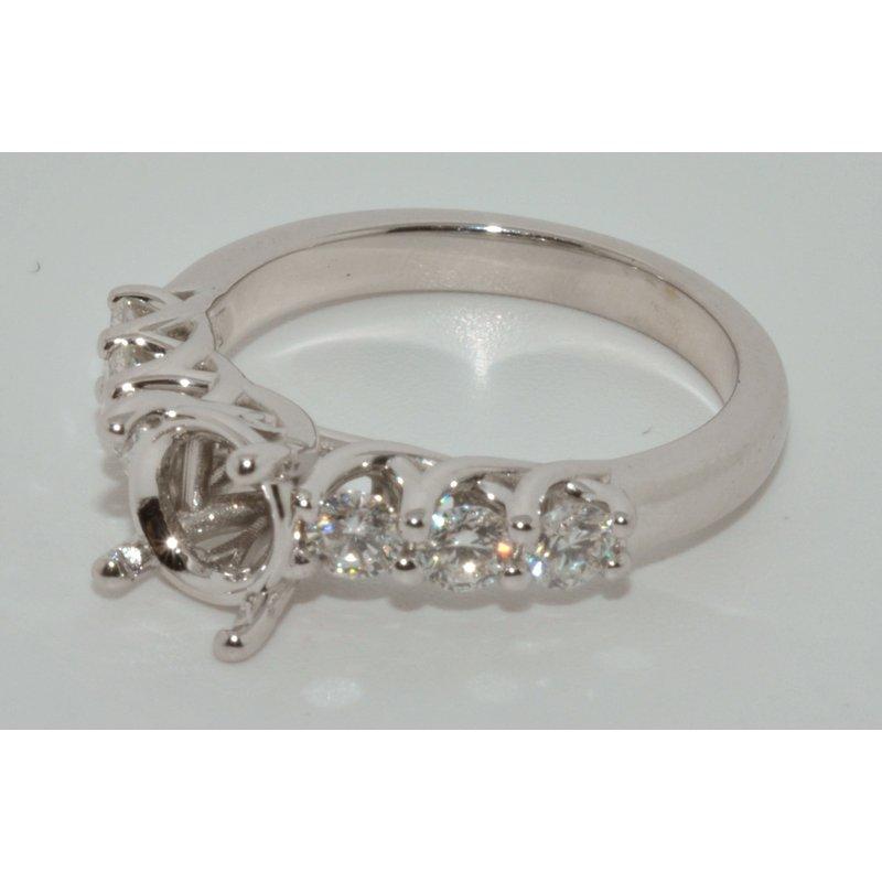 Windy City Signature 14k WG diamond eng ring
