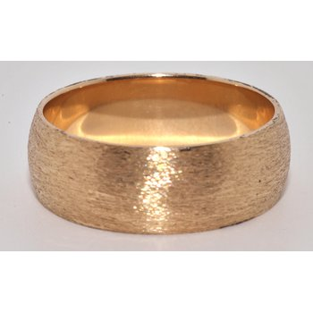 14K YG Half Round 7mm Wedding band