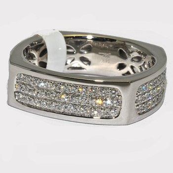 14K White Gold Diamond Gentlemen's