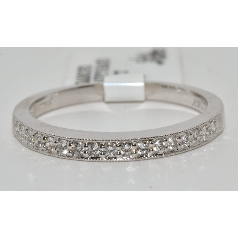Windy City Signature Beautiful and Simple 14K White Gold