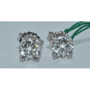 14K WG Diamond Stud H-I SI3