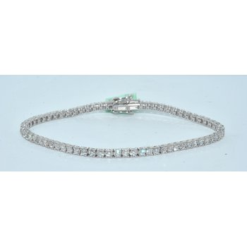14K WG 2ct TW Diamond tennis bracelet