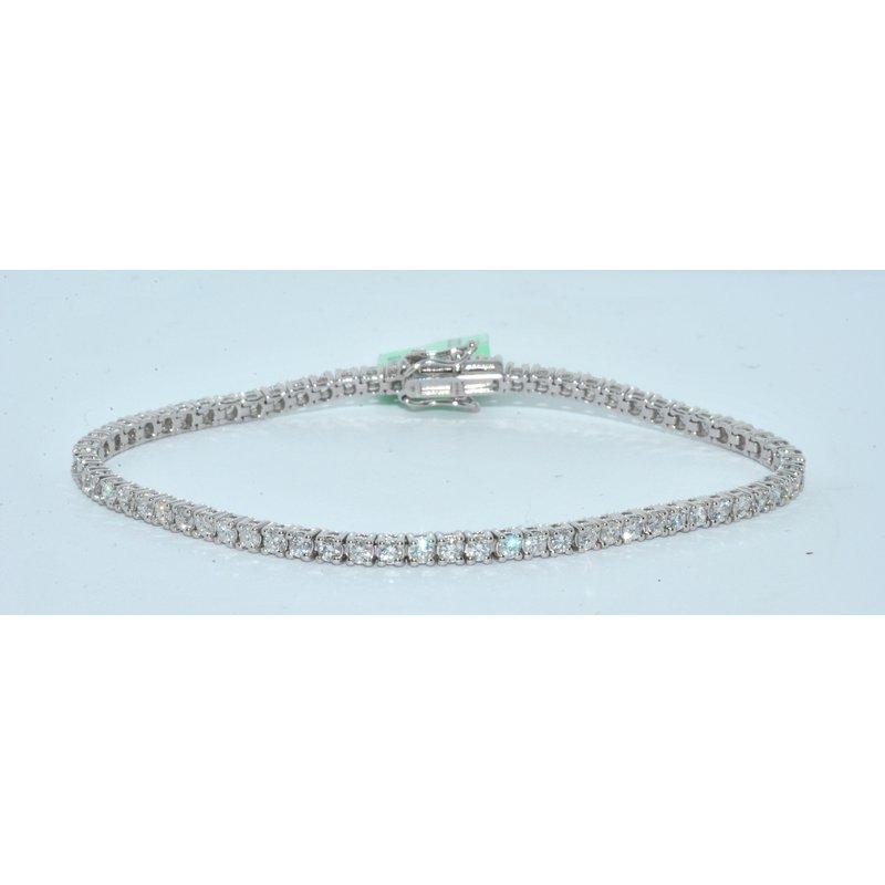Windy City Signature 14K WG 2ct TW Diamond tennis bracelet