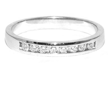 Timeless 14K white gold channel set band