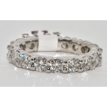 14K White Gold Eternity Diamond Band