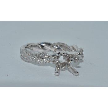 14K WG Diamond Eng Ring