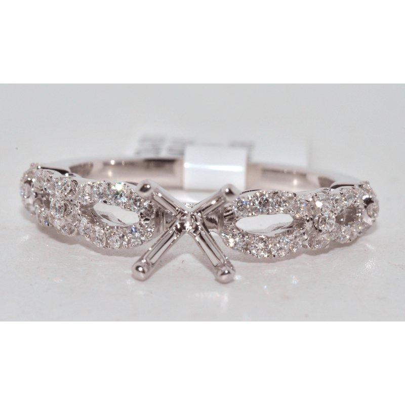 Windy City Signature  Diamond Twist Infinity Engagement Ring