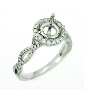 Twisted Infinity Engagement Ring