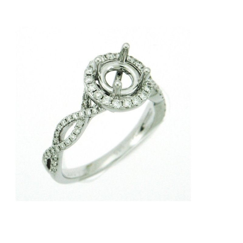 Windy City Signature Twisted Infinity Engagement Ring