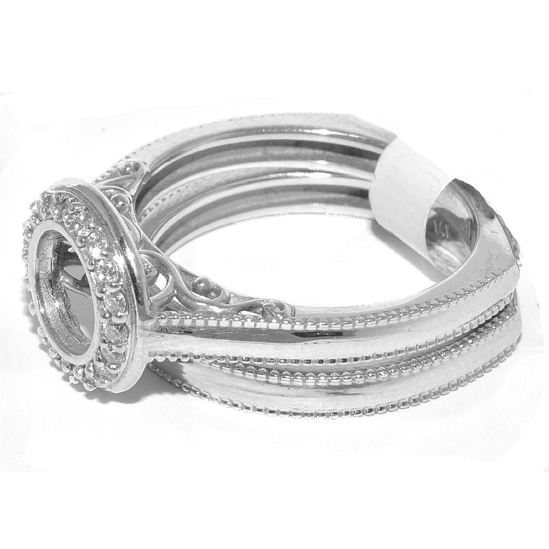 Windy City Signature Exclusive and Modern Ladys Halo Ring