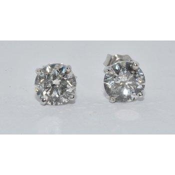 14K WG Diamond Stud H/SI3