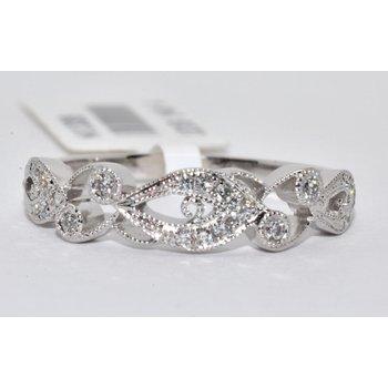 Diamond Filigree Wedding Band Ring