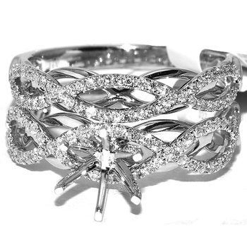 Double Infinity diamond Diamond Bridal