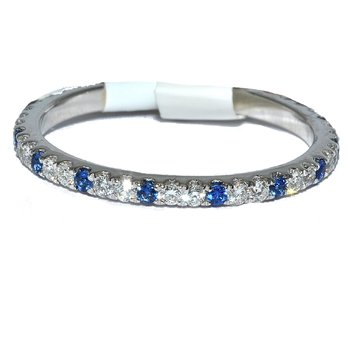 Elegant stackable diamond and sapphire