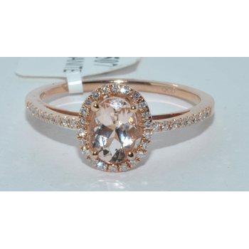 14K RG Dia & Morganite Ring