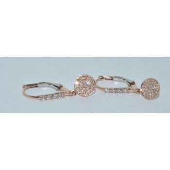 14K TT Rose & WG Earring