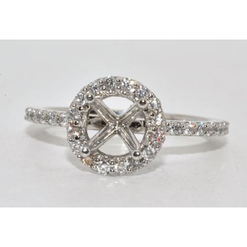 14K-X1 WG diamond halo 1ct. center