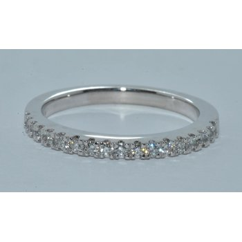 Dazzling French Pave Wedding Band