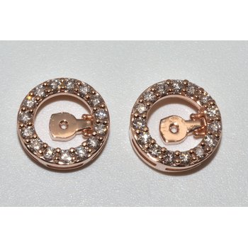 14K Rose Gold Mechanical Earrings Jacket