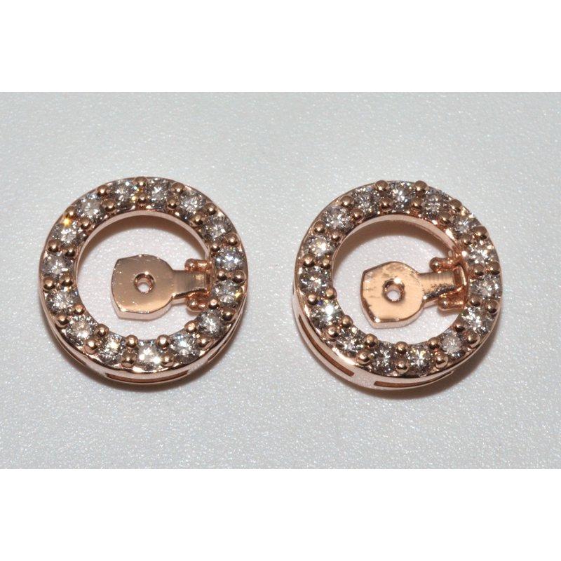 Windy City Signature 14K Rose Gold Mechanical Earrings Jacket