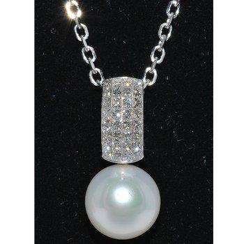 14K WG Diamond/Pearl Pend