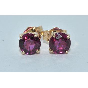 14k YG Ruby Stud Earrings
