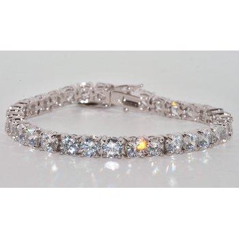 Silver Bracelet with CZ's
