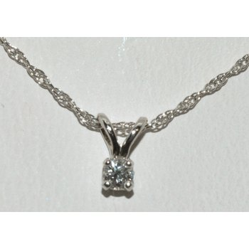 14K WG Diamond Pendant