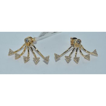 14K YG Jacket Diamond Earring