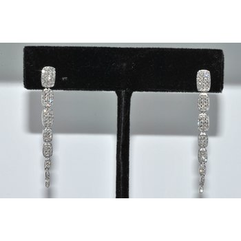 14K WG Diamond Serpentine earring