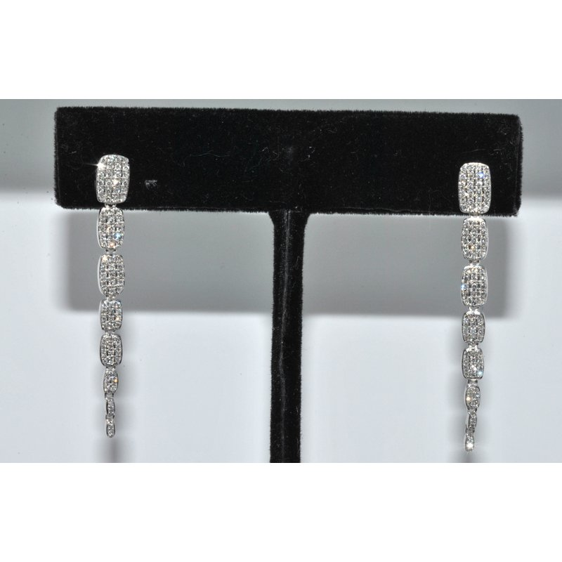 Windy City Signature 14K WG Diamond Serpentine earring